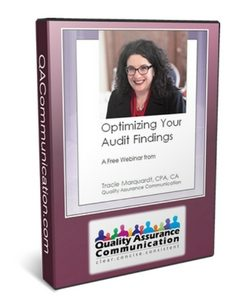 Optimizing Your Audit Findings Webinar