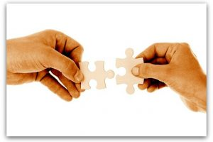 Puzzle Pieces for Business Relationships QA Communication