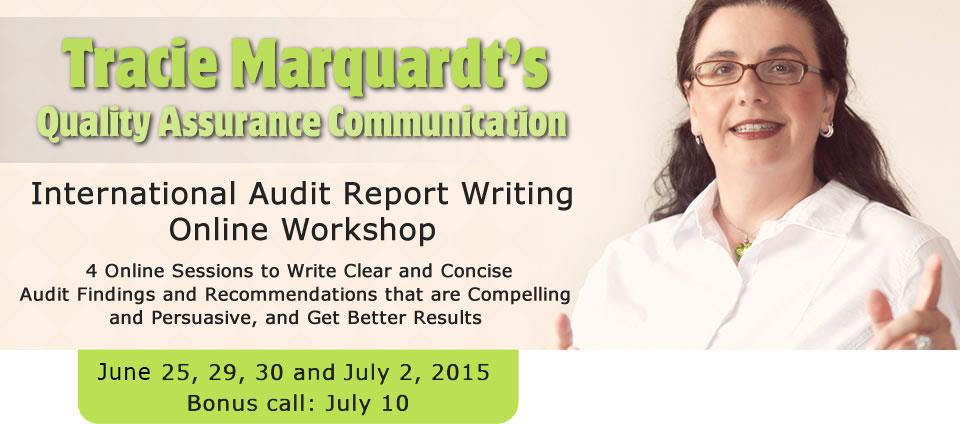 International Audit Report Writing Online Workshop
