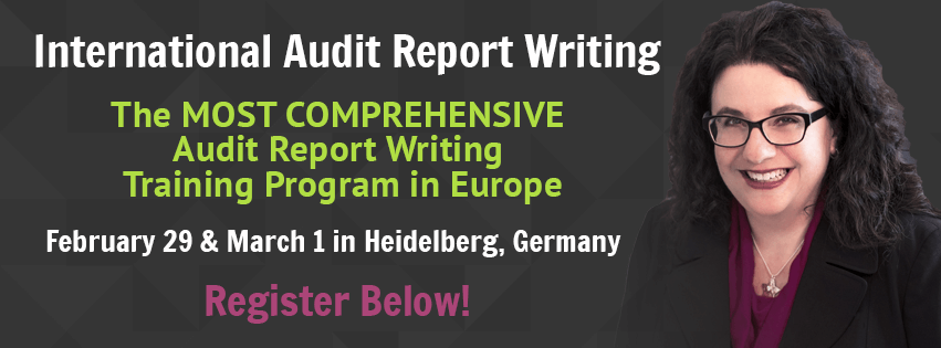 International Audit Report Writing Workshop, February 29 and March 1, 2016