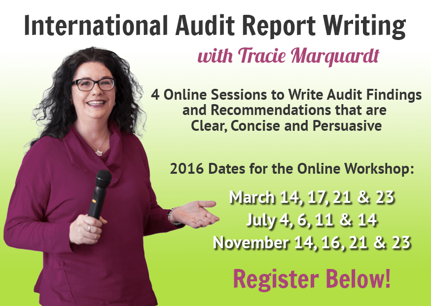 International Audit Report Writing Online with Tracie Marquardt