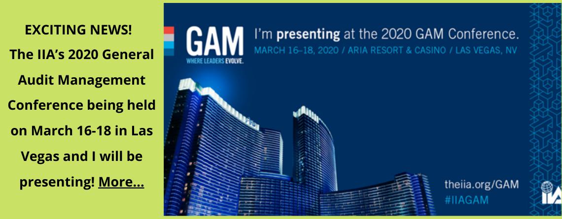 Slider: A IIA's 2020 General Audit Management Conference